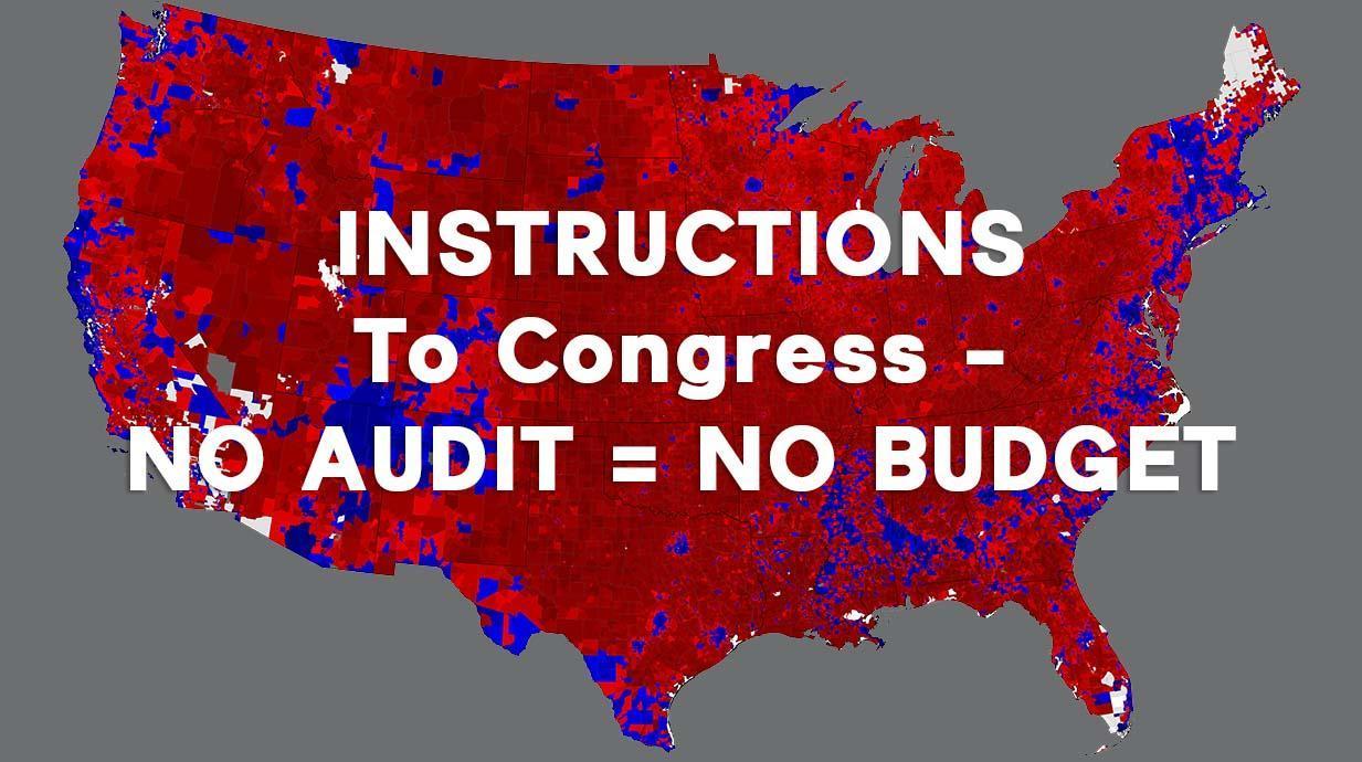 Congress No Audit No Budget